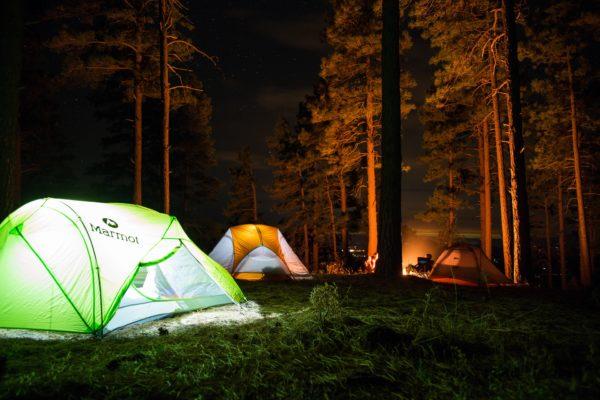 キャンプ 消灯