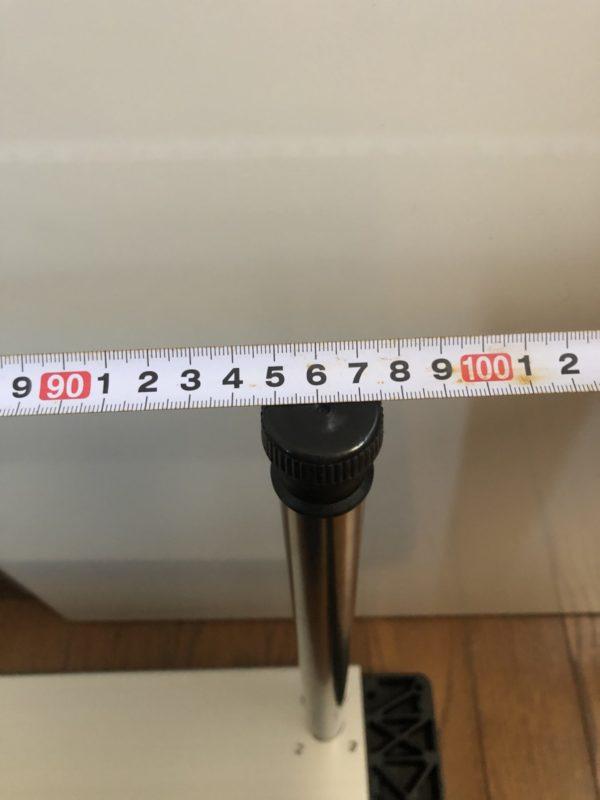 テーブルの寸法