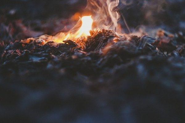 小さい焚火