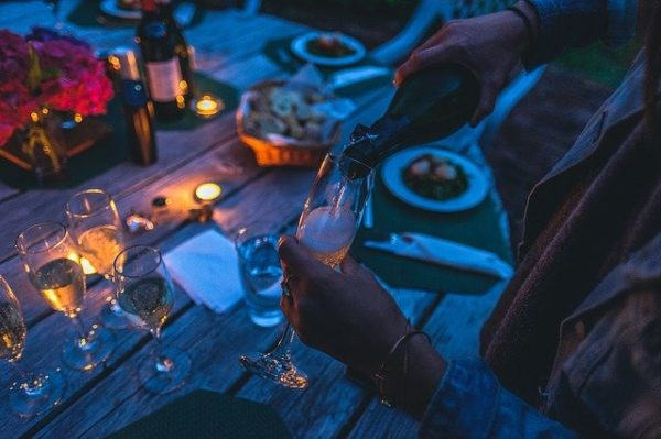 キャンプの夕食