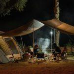 夜キャンプの風景