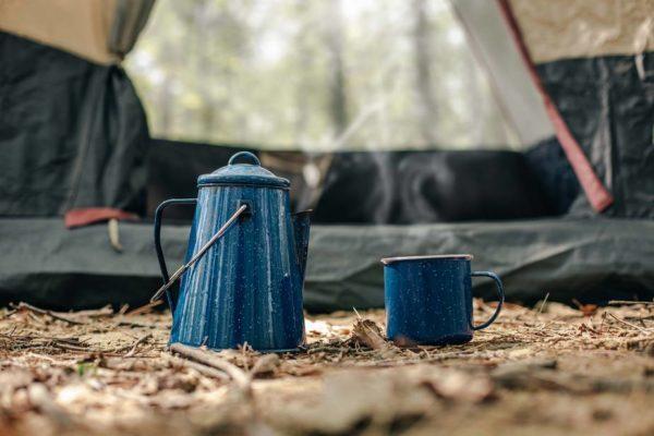 キャンプでホットコーヒー