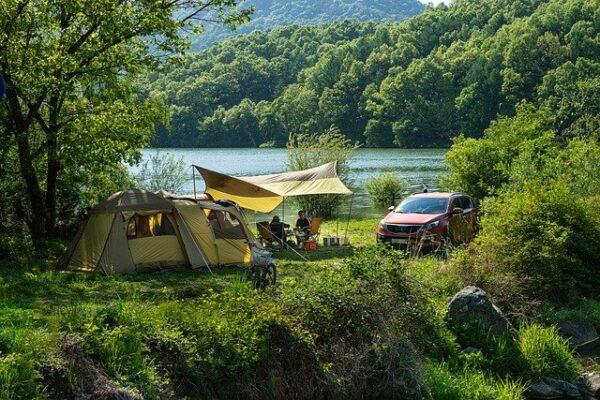 春のキャンプ