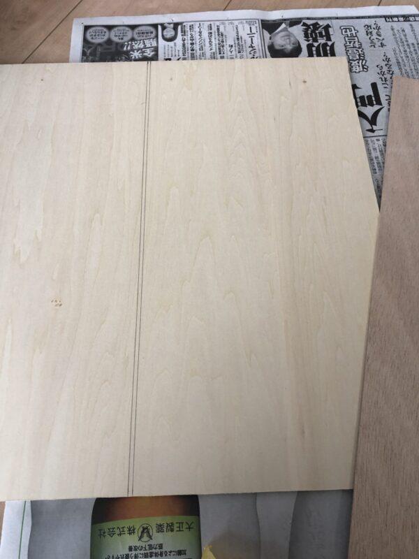 テーブルの天板加工 1