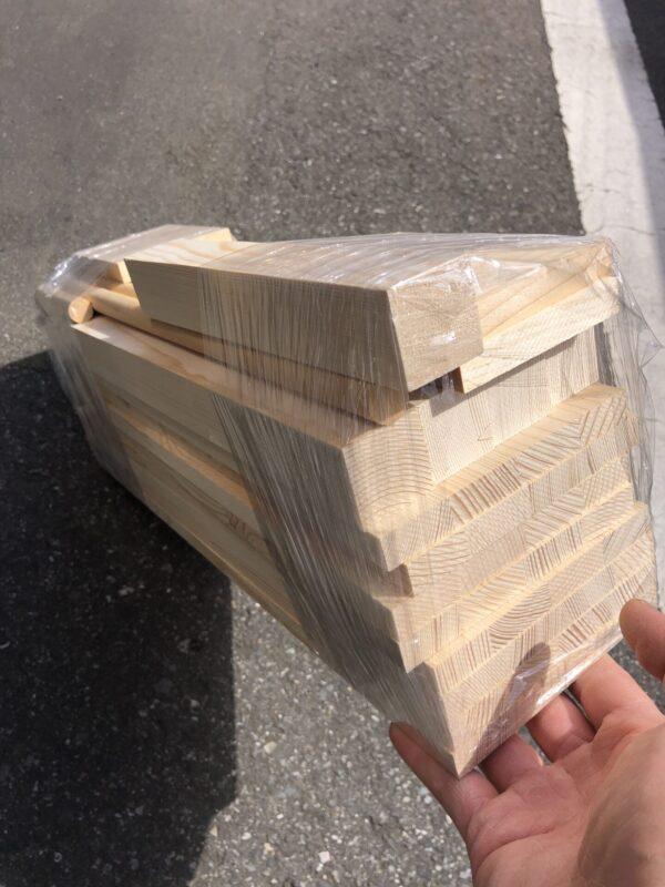 切断後の木材
