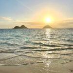 オアフ島の朝の海辺